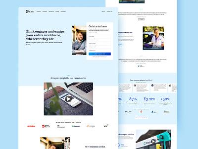 Blink Landing Page homepage home app website webdesign ui design ui typography minimal layout landing page creative clean