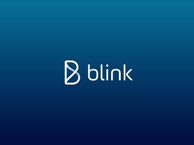 Blink's New Look typography b icon logo branding app chat brand