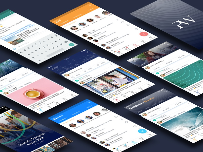 Blink Mobile Theming contacts feed custom logo branding cards mobile messaging chat ios ui app