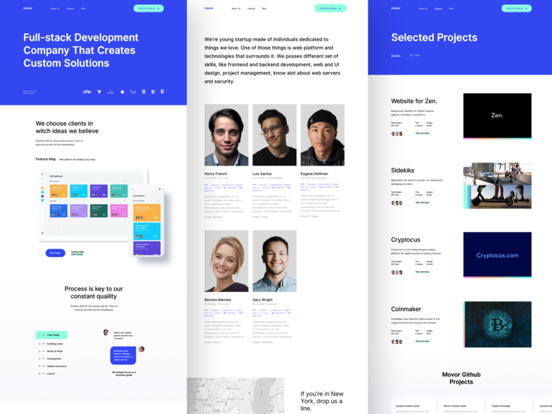 Movor - Development Agency Website Design