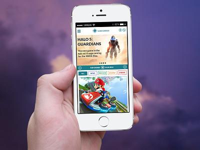 Game Compass Website ui ux webdesign mobile minimal games