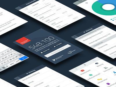 Deutschland in Zahlen - Mobile Application ui ux webdesign mobile minimal statistic