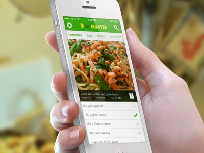 Eat Smarter Redesign web redesign ui ux mobile
