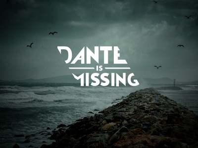 Dante is Missing logo logo typography project diagonal type font
