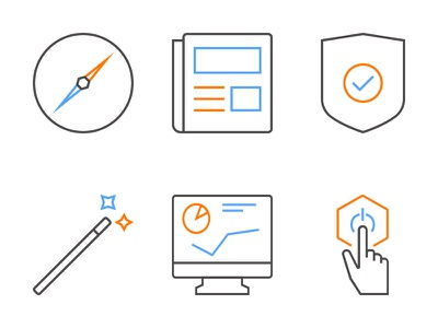 Protonet Icons lines minimal illustrator iconset icons