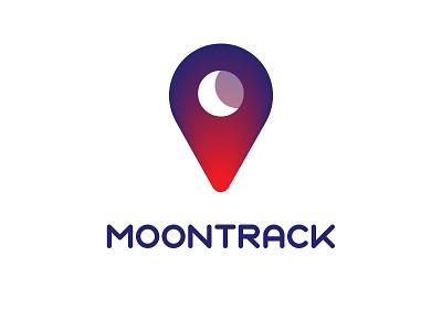 Moontrack Logo contrast hi mom does anybody read this design minimal illustrator logo moon