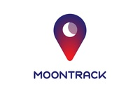 Moontrack Logo contrast hi mom does anybody read this design minimal illustrator logo moon