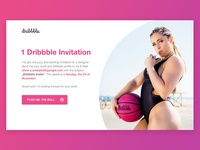 Dribbble Invitation sketch sketchapp photoshop invite design website playoff invitation invite dribbble