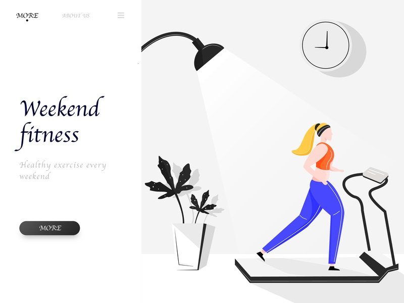 Weekend Fitness design illustration