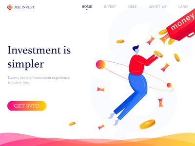 Home page illustration of financial webpage
