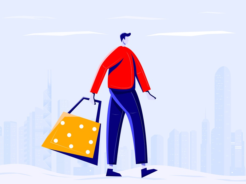 shopping 设计 插图