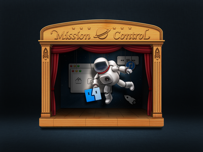 Mission Control icon wood astronaut space desktop puppet icon mission control puppet show exposé