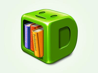 Dash.app replacement icon glossy icon book d shelf bookshelf