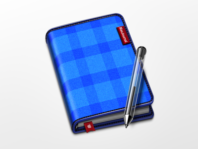 Notebook icon icon notebook pen fabric