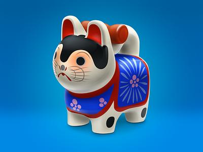 Inuhariko icon dog toy lucky charm japan icon