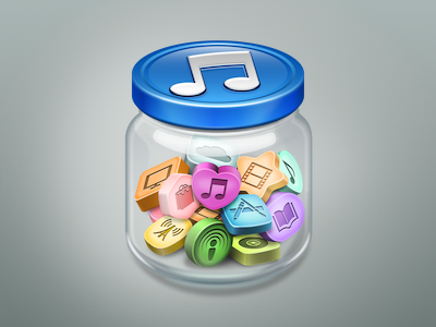 iTunes replacement icon itunes icon jar glass candy