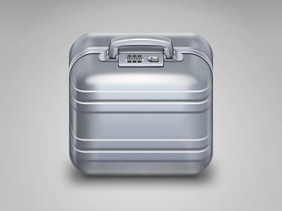 Suitcase iOS icon icon ios suitcase aluminum metal