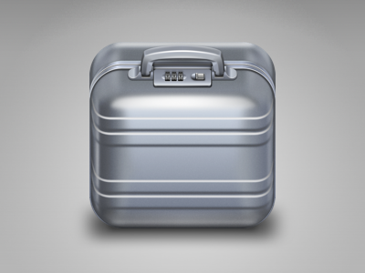 Suitcase iOS icon icon ios suitcase aluminum metal