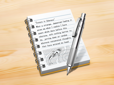 Notebook icon notebook icon metal pen mechanical pencil