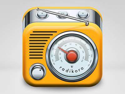 radikoro iOS icon radio icon ios metal