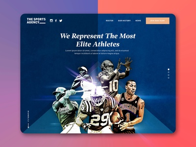 Sports Agency Concept - One Hour Design Challenge