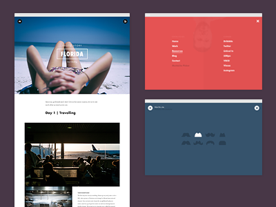 Personal Blog blog html css animation responsive simple minimal personal portfolio pictures photography