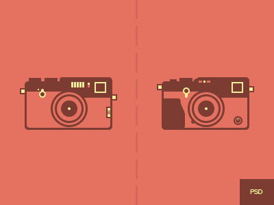 Tuesday Freebie. Fujifilm cameras free psd icon flat simple clean fujifilm camera body lens photography