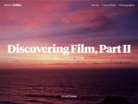 New website css html vuejs web photography ui