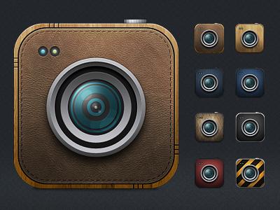 Cameras psd file psd icon camera lens free