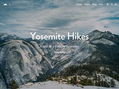 Yosemite Hikes Photo Story and Free Wallpaper Pack free pack wallpaper minimal clean story photo webdesign photography ui