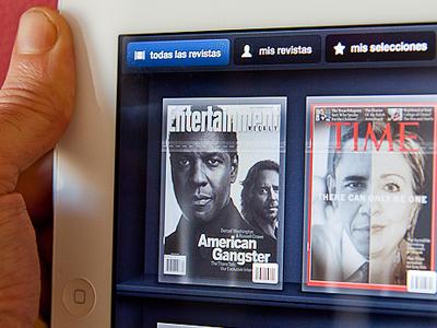 Kiosque 2 ipad ui ios magazine cover dark shelf shelves