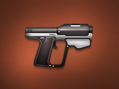 Pistol pistol icon design gun