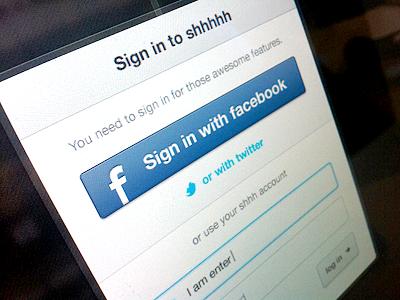 Login Popup login input focus log in sign up signup popup overlay social facebook
