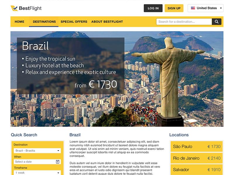 BestFlight Brazil by Nikki for SDL on Dribbble