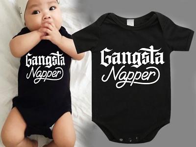 Gangsta Rapper hand lettering tshirt handmade custom type design type custom calligraphy lettering typography