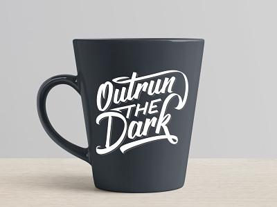 Outrun THE Dark Lettering hand lettering handmade script custom type type design calligraphy lettering typography