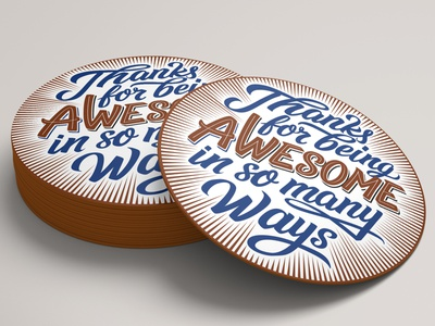 Thanks for being awesome in so many ways hand lettering handmade script custom type custom calligraphy lettering typography