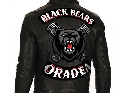 Black Bears Bike club bike club biker logo type typography