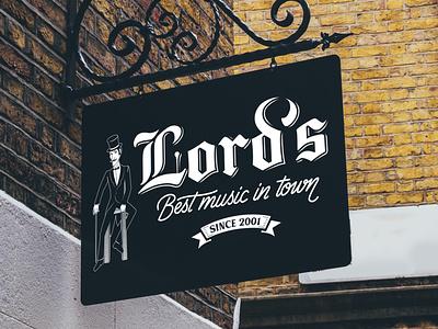 Lord's Pub Rebranding logotype hand lettering branding custom type logo custom calligraphy lettering typography