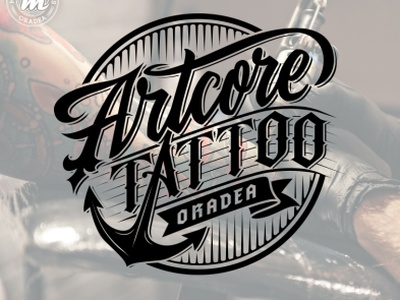Artcore Tattoo Oradea tattoo hand lettering branding custom type type logotype logo custom calligraphy lettering typography