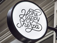 The happy Sherpa Outdoor Sign