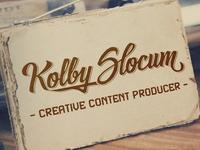 Kolby Slocum Lettering logo