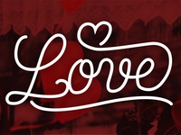 Love Lettering Single line