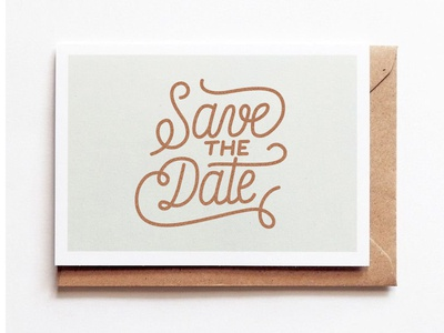 Save The Date Single line Lettering
