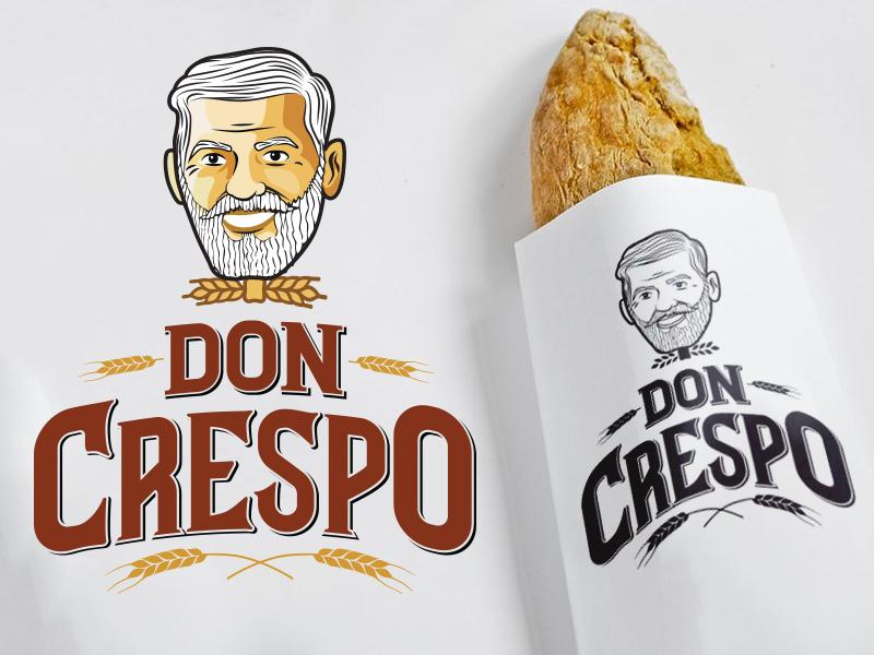 Don Crespo Branding bread food branding brand face illustration logotype logo