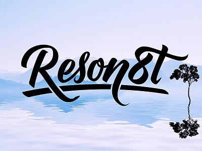 Reson8t Custom logo hand lettering type custom handmade custom type logo logotype calligraphy lettering typography