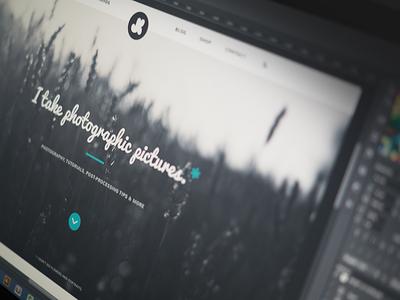 First Shot design web photography portfolio website web design nunito pacifico