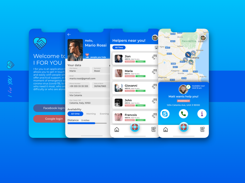 I For You, an hybrid APP Open Source for helping you.