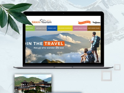 Sikkim Tour Design branding web development web design uiux