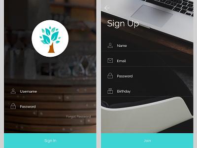 Login and Sign in Prototype web development icon uiux design